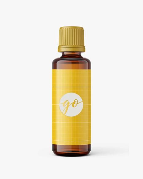 Amber essential oil bottle mockup / 50ml