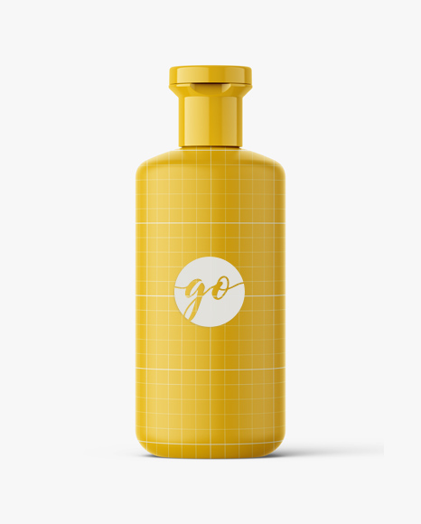 Cosmetic bottle mockup / amber