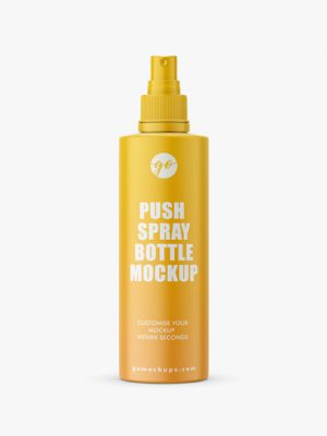 Matt bottle with push spray mockup
