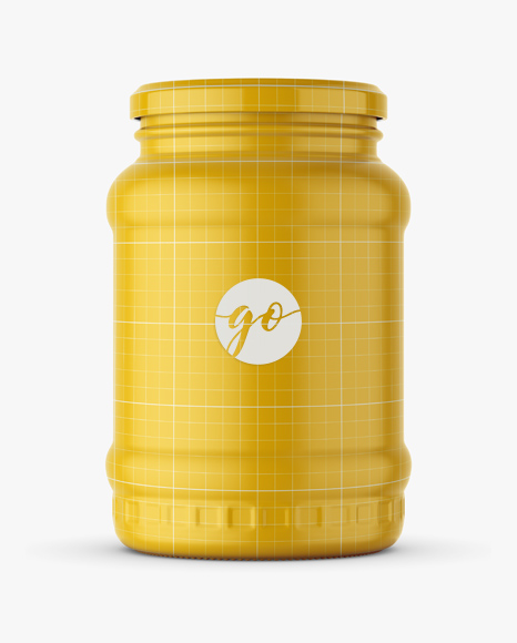 Pickle jar mockup