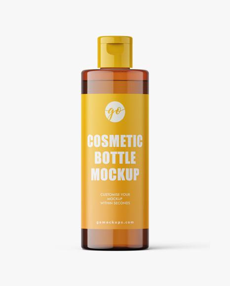 Cosmetic bottle mockup 100 ml / amber