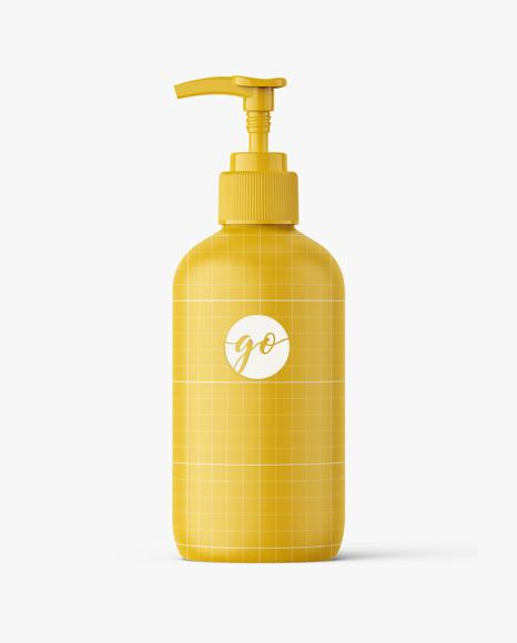 Matt cosmetic bottle mockup #P0023