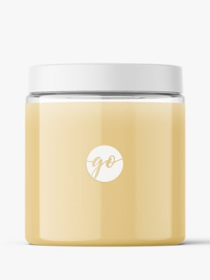 Cosmetic jar mockup 250 ml