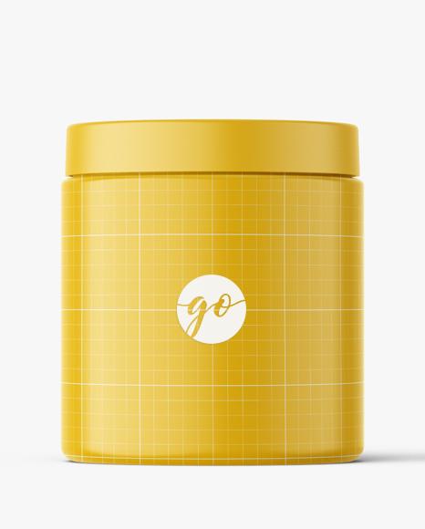 Cosmetic jar mockup 250 ml