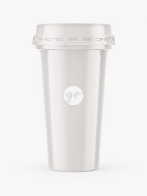 Glossy Yorurt Cup Mockup