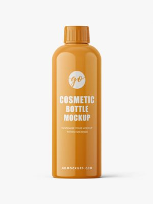 Glossy cosmetic bottle mockup #P0033