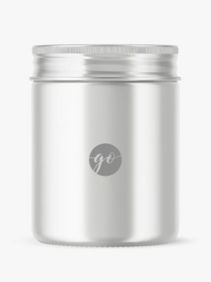 Metallic cosmetic jar mockup P0037