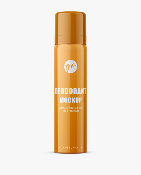 Glossy deodorant bottle mockup P0040
