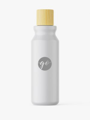 Matt cosmetic bottle mockup #P0041