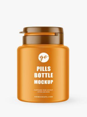 Matt pills bottle mockup #P0042