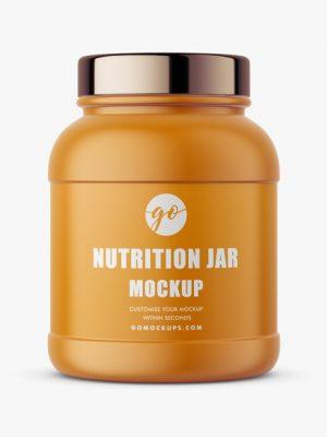 Matte nutrition jar mockup