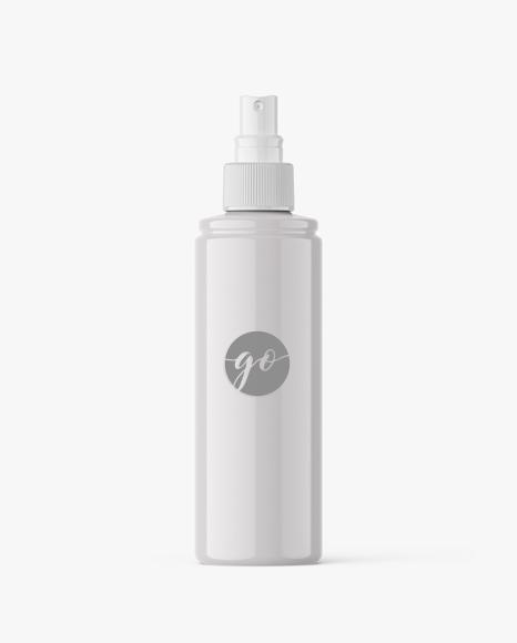 Spray cosmetic bottle mockup #P0043