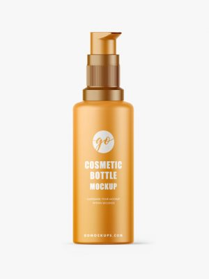 Matt cosmetic bottle mockup #P0043